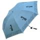黑胶三折超轻晴雨伞,小猫咪咪33115E 湖蓝色