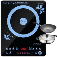 美的(Midea)电磁炉WT2121S 哑光防滑触控面板 八档火力(赠汤锅+炒锅)