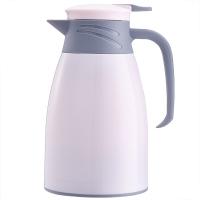 悠佳 鼎盛系列1L糖果色注塑壳保温壶暖水瓶 多功能热水瓶大容量真空办公水壶开水壶 粉白ZS-9100-B