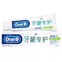 欧乐B(OralB)牙龈专护—绿茶 持久清新修护牙膏140g