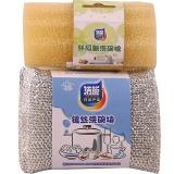 洁能百洁布洗碗棉丝瓜瓤两件套3842/0242