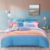 水星家纺(MERCURY) 床上用品四件套纯棉 全棉斜纹印花被套床单 克诺斯 双人1.5米床
