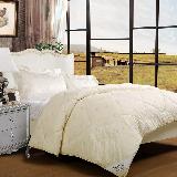 富安娜家纺被子 澳洲臻品羊毛被第二代冬厚被1.8米床(加大)适用(230cm*229cm)浅黄色