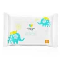 初然之爱(Original care)婴儿手口湿巾10片装(无酒精香精、加厚带盖、婴儿湿巾、湿纸巾)