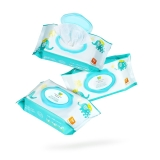 初然之爱(Original care)婴儿手口湿巾80片*3包(无酒精香精、加厚带盖、婴儿湿巾、湿纸巾)
