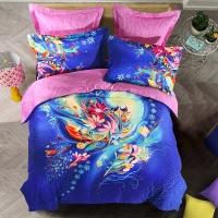 SAINTMARC罗莱生活出品 贡缎纯棉四件套 全棉床品套件床上用品床单被套 印象杜乐丽SED5283-4 尚玛可200*230