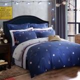 梦洁家纺出品 MEE 床品套件 纯棉印花四件套 全棉床单被罩 威尔士伯爵 1.5米床 200*230cm