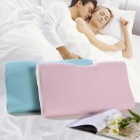 富安娜家纺枕芯 蝶型慢回弹护颈枕枕头 护颈助眠 女款(58cm*32cm)