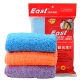 伊司达(EAST) 抹布 洗碗布微纤维清洁布三条装(颜色随机发货) ES1522