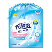 安尔乐 蓝芯体验 纯棉表层 超薄日用型 迷你卫生巾 180mm*10片