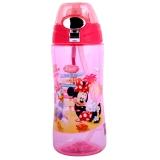 迪士尼宝宝水杯吸管杯儿童水壶把手背带两用杯米妮