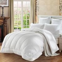水星家纺(MERCURY) 澳洲羊毛春秋被子床上用品 白色双人被芯200*230cm