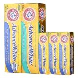 艾禾美(ARMHAMMER)小苏打牙膏 美白超值加量5件套(亮白洁净 121g+清新洁净121g+亮白洁净牙膏 25g×3)