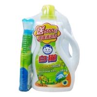 白猫 大自然清馨洗衣液3000g+500g玻璃清洁剂