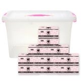 芭比 Barbie 轻奢优雅系列抽纸3层120抽/包*10包收纳箱装抽取式面纸 量贩装纸巾