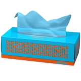 瑞诺瓦之爱( Renova) 盒装抽纸 彩色双拼天际蓝/白色 3层80抽/盒 葡萄牙进口