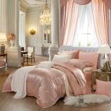 水星家纺(MERCURY)欧式大提花纯色简约床单四件套 卡洛娜之歌 加大双人1.8米床
