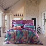 SAINTMARC罗莱生活出品 贡缎纯棉四件套 全棉床品套件床上用品床单被套 雀翎炫舞SED5295-4 尚玛可220*240