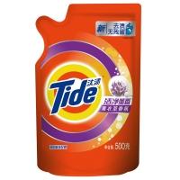 汰渍洁净薰香薰衣草柔香洗衣液500g/袋 柔顺 护色 含熏香因子