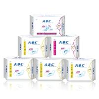ABC纤薄透气防侧漏卫生巾6包(日32片+夜8片+加长夜3片 新旧包装随机发货)
