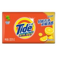汰渍全效三重功效柠檬洗衣皂202g*2 手洗专用 肥皂 去渍 柠檬清香
