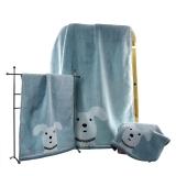 金号纯棉无捻毛巾方巾浴巾组合三件套G1850WH/G6850WH/G3850WH灰色