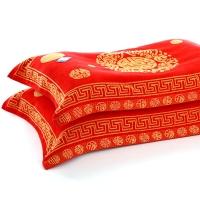 金号 毛巾家纺 提缎割无捻枕巾G2416两条装