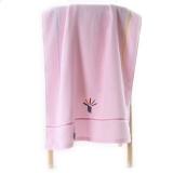 金号 毛巾家纺 无捻提缎绣浴巾G3307WH单条装粉色