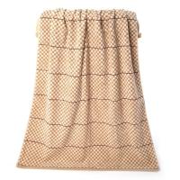 金号毛巾家纺G3743纯棉柔软吸水浴巾棕色