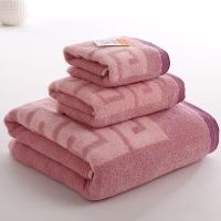 金号 床品家纺 舒特曼双面毛圈S1206毛方浴套巾紫色