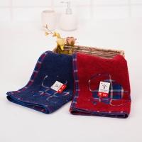 金号缎档纯棉面巾RA550红蓝两条装