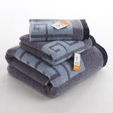 金号 床品家纺 舒特曼双面毛圈S1206毛方浴套巾灰色