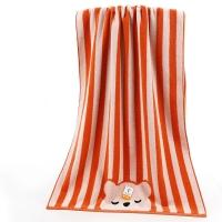 金号 床品家纺 舒特曼彩条猫头S3131WH纯棉浴巾红色1条装