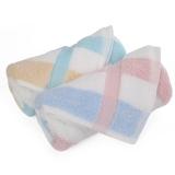 金号毛巾家纺GA1014W吸水面巾粉绿2条装