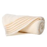 金号 纯棉毛巾家纺提缎面巾米色单条装 G1734