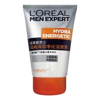 欧莱雅(LOREAL)男士劲能深层净化洁面膏 100ml(洗面奶 洁面乳 清洁去角质 润滑肌肤 )
