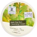 菲诗小铺(THE FACE SHOP)草本丰润绿茶卸妆霜135g(卸妆乳 卸妆膏 温和洁面清洁)