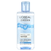 欧莱雅 LOREAL 三合一卸妆洁颜水 清爽型 250ml(欧莱雅女士 魔术水 卸妆水 洁面 保湿)