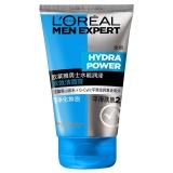 欧莱雅(LOREAL)男士水能润泽双效洁面膏 100ml(男士洗面奶 洁面乳 净化排浊 平滑肤质)