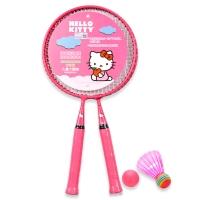 HELLO KITTY 儿童玩具卡通羽毛球拍女宝宝健身户外凯蒂猫亲子玩具HDA21611粉色