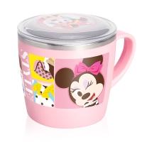 迪士尼(Disney)韩国进口米妮儿童不锈钢水杯带盖隔热餐具07