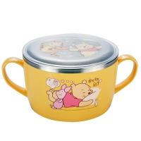 迪士尼(Disney)韩国进口维尼儿童不锈钢餐具 婴儿碗辅食双手柄面碗(带盖)05