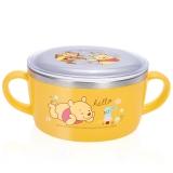 迪士尼(Disney)韩国进口维尼儿童不锈钢餐具 婴儿碗辅食双手柄碗(带盖)04