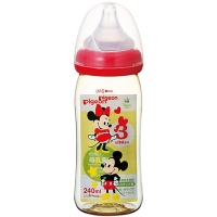 贝亲(Pigeon)宽口径PPSU仿母乳实感奶瓶240ml 米奇(新款)【日本原装进口】