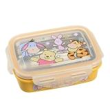 迪士尼(Disney)韩国进口维尼方形儿童不锈钢保鲜便当饭盒餐具