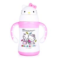 HELLO KITTY 凯蒂猫儿童保温杯 宝宝萌趣多色学饮杯不锈钢保温吸管水杯 220ML 白色