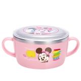 迪士尼(Disney)韩国进口米妮儿童不锈钢餐具婴儿辅食双手柄碗(带盖)04