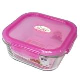 乐扣乐扣(LOCKLOCK)系列密封型耐热玻璃保鲜盒容器750ml LLG224-PKT粉色