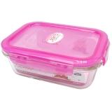 乐扣乐扣(LOCKLOCK)系列密封型耐热玻璃保鲜盒容器630ml LLG428-PKT粉色
