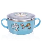 哆啦A梦(Doraemon)韩国进口儿童不锈钢餐具 婴儿碗辅食双手柄碗(带盖)04